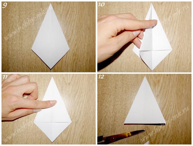 Как сделать простую елочку из бумаги ч.3