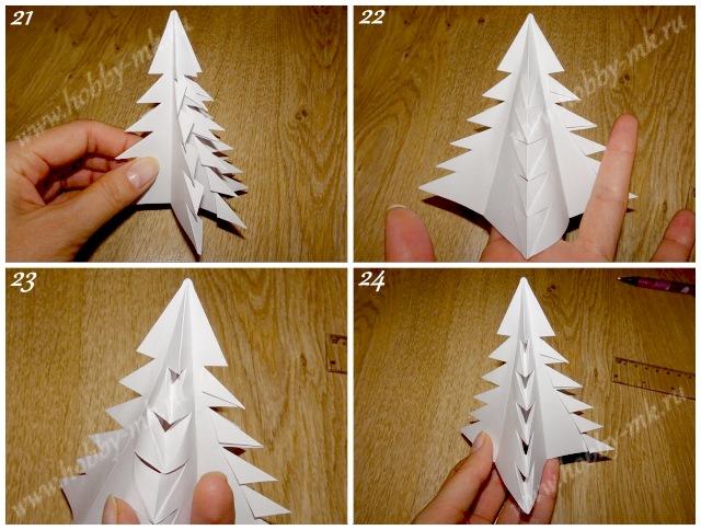 Как сделать простую елочку из бумаги ч.6