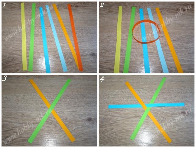 Как сделать шарики из бумажных полосок ч.1