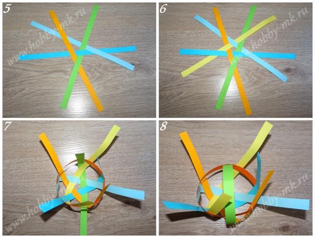 Как сделать шарики из бумажных полосок ч.2