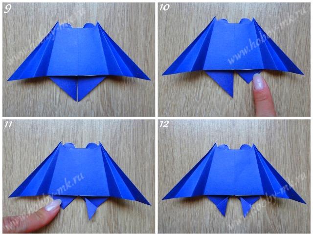 Как сделать летучую мышь оригами ч.3