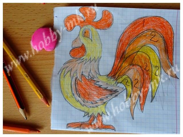 Рисуем огненного петуха