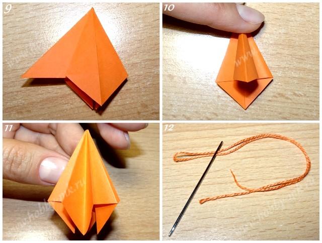Как сделать сосульку на елку из бумаги ч.3