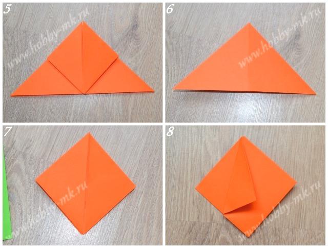 Тюльпан оригами поэтапно ч.2