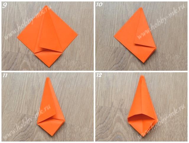Тюльпан оригами поэтапно ч.3