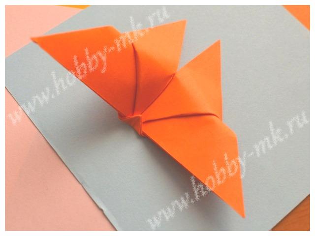 Бабочка оригами по простой схеме