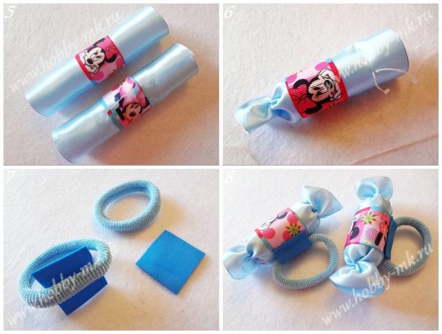 Как сделать конфетки из ленточек ч.2