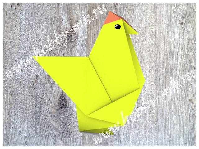 Курица в технике оригами