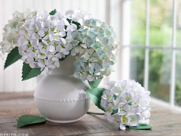 Делаем красивые бумажные цветы - шаблоны и мк