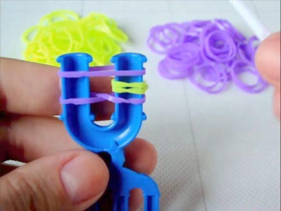 браслеты из маленьких резинок