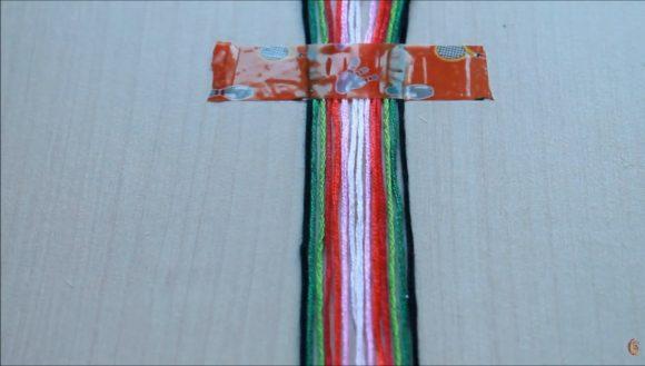 плетение фенечки нитками мулине